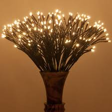 Brown Starburst Led Lighted Branches Warm White Twinkle