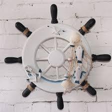 description this wooden ship wheel