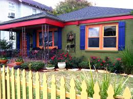 house paint colorsNew Orleans House Paint Colors Olive Green Fuchsia Indigo and