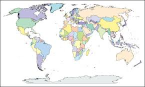 World Map With Countries Adobe Illustrator Ai Editable Pdf