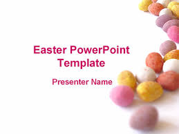 Easter Pastel Eggs Powerpoint Template