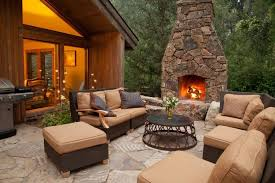 image of outdoor deck electric fireplace