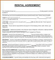 Printable Rental Agreement Template Free Rental Agreements To Print Standard Lease Agreement