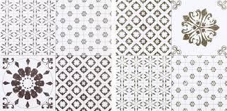 Colours Black White Patchwork Effect Self Adhesive Vinyl Tile