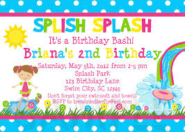 Birthday Invitation Party Splish Splash Girls Invitation