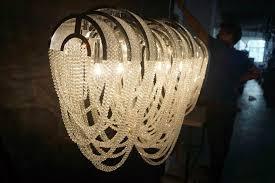 luxury custom made decorative project chain crystal chandelier ka11611