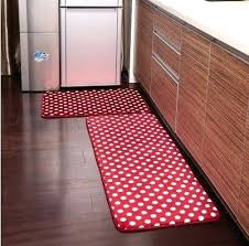 area rug and runner sets 2 piece red polka dots kitchen rug set kitchen memory foam