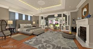 Serene Bedroom Living And Dining Room Architectural Renderings From Castleview3dcom