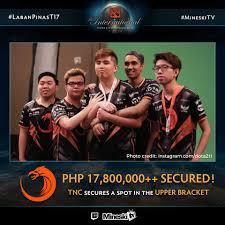 philippine team dota players bags p17m because of dota 2