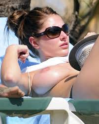Mature Celeb Lucy Pinder with Big Naturals Wearing Sunglasses.