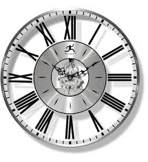 roman numeral clock with silver accents image