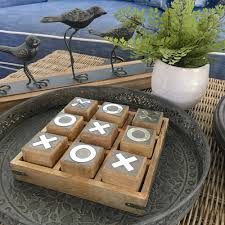 Wooden Naughts And Crosses Game Wooden Noughts Crosses Board Game Large Humble Home 47
