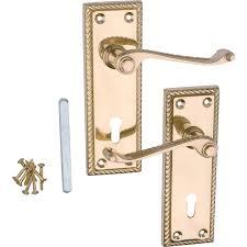 homebase door handles exterior. georgian lever lock door handle - polished brass 1 pair at homebase.co.uk homebase handles exterior s