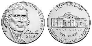 2016 D Jefferson Nickel Coin Value Prices Photos Info