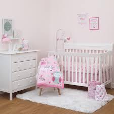 child of mine princess 3pc crib bedding set owl unicorn