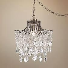 swag style plug in mini chandelier minimalist swag style plug in mini chandelier gallery