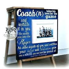 coach gifts for her thank you gift idea basketball soccer football gymnastics baseball picture frame by
