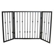 pets stop emperor rings decorative freestanding tri fold 3 panel pet gate