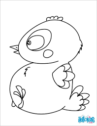 Baby Chickloring Pages Chickens Cute Free Printable Easter Chicks