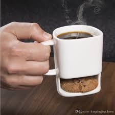 office mugs. Cookies Milk Coffee Mug Ceramic Cup Dunk With Biscuit Pocket Holder Office Mugs Ooa3093 Discount Drinking From