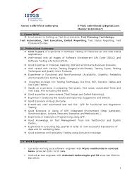Experienced Qa Software Tester Resume Sample Monster Com With Qa