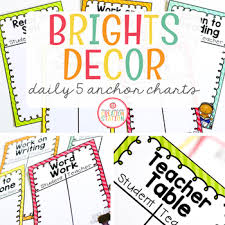 Daily Five Chart Printables Daily Five Anchor Charts