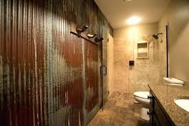 tin walls in bathroom corrugated metal bathroom walls appealing tin shower wall schedule a rugged man
