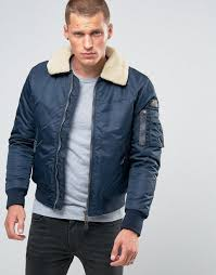 schott pilote flight er faux fur collar navy men jacket schott motorcycle apparel 100