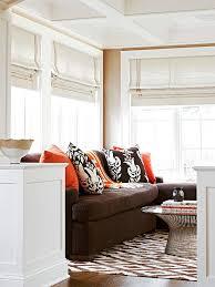 brown orange sofa