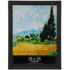 black matte smooth wood wall frame 18