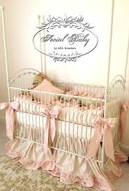 gorgeous baby nursery design ideas using baby bedding separates artistic girl baby nursery room design