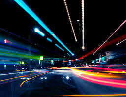 Stop Light At Night Night Traffic Light Trails Wallpapers