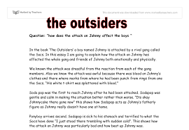 sample essay about the outsiders book report essay the outsiders writework