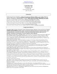 Billing Amp Coding Resume Samples Medical Ideas With Regard To 19