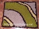Схемы для вязания коврика на сетке крючком