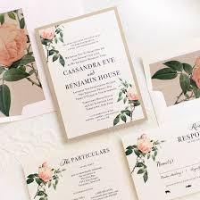 Wedding Invitatiins Ivory Blush Wedding Invitations Customizable Beacon Lane