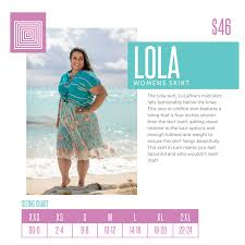 Lola Sizing Chart Lularoe Lularoe Lola Skirt Size Chart Find Your Unique Style With