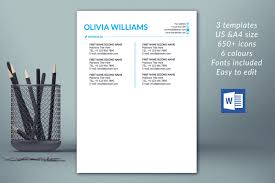 Modern Resume Template Instant Download Cv Template Professional