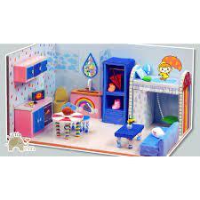 Mô hình nhà handmade trang trí nhà cửa, đồ chơi cho bé _ Nhà mưa giá cạnh  tranh