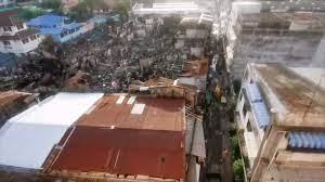 ไฟไหม้ชุมชนตากสิน 23 เดือดร้อนนับร้อยครัวเรือน