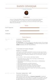 Commercial Manager Resume samples