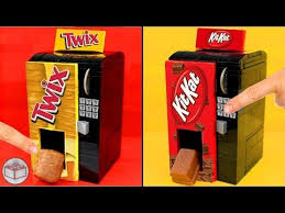 How To Build A Lego Vending Machine Delectable How To Build LEGO Vending Machines Kit Kat Twix Snickers