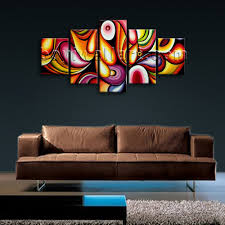 Paintings For Walls Of Living Room Large Colorful Wall Art Living Room Decoration Ideas Modern