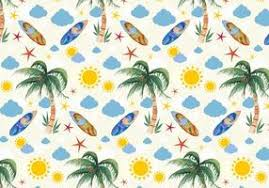 Summer Pattern Beauteous Vector Summer Seamless Leaf Pattern Download Free Vector Art