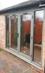hand painted double hardwood glass patio doors