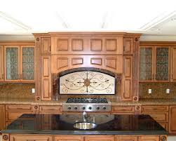 image of kitchen cabinets with glass doors design