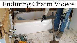 How to remove a bathtub Surround How To Remove Bathtub Youtube How To Remove Bathtub Youtube