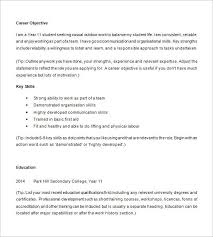 Resume Template For Highschool Students Essential Impression Example