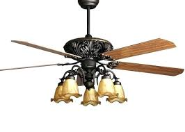 antique ceiling fan with light rustic style