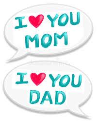 i love mom dad stock ilration ilration of card 11434657